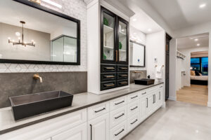 Bathroom Designed by Custom home builder