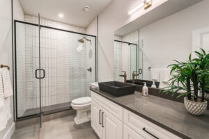 Shower goals in Edmonton home